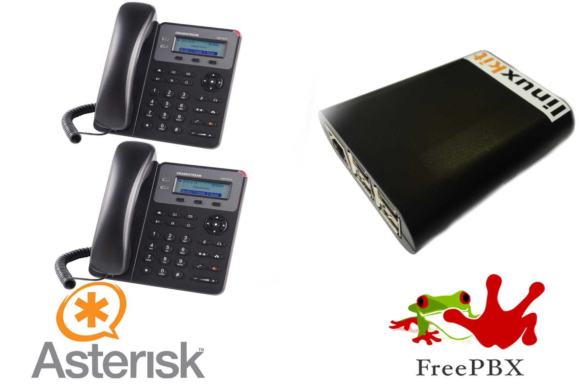 Asterisk BundleKit - 2 IP Phones + Mini PBX Server VoIP